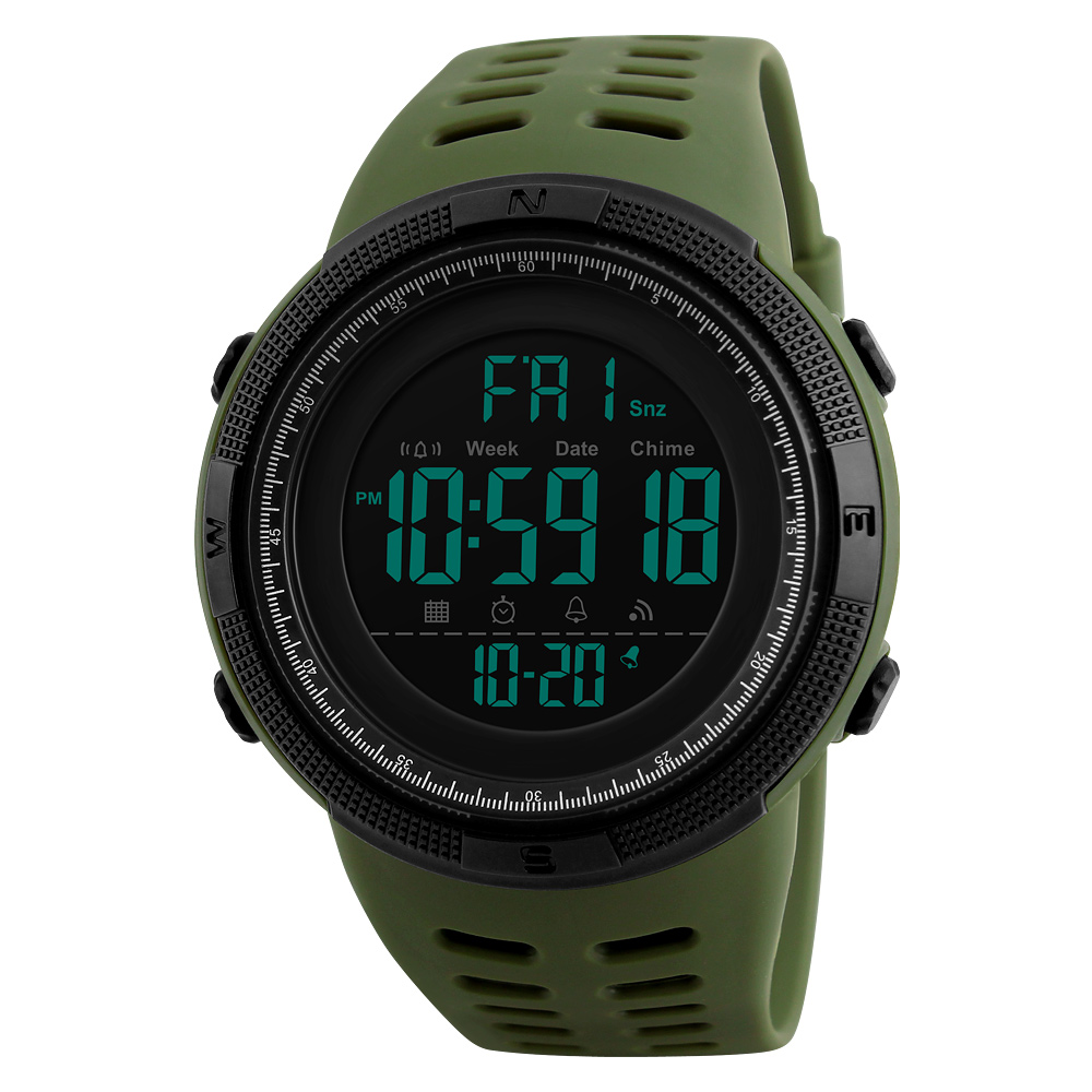 China wristwatches factory SKMEI 1251 digital sport plastic watches men fashion wrist watch Military relojes hombre, 7 colors