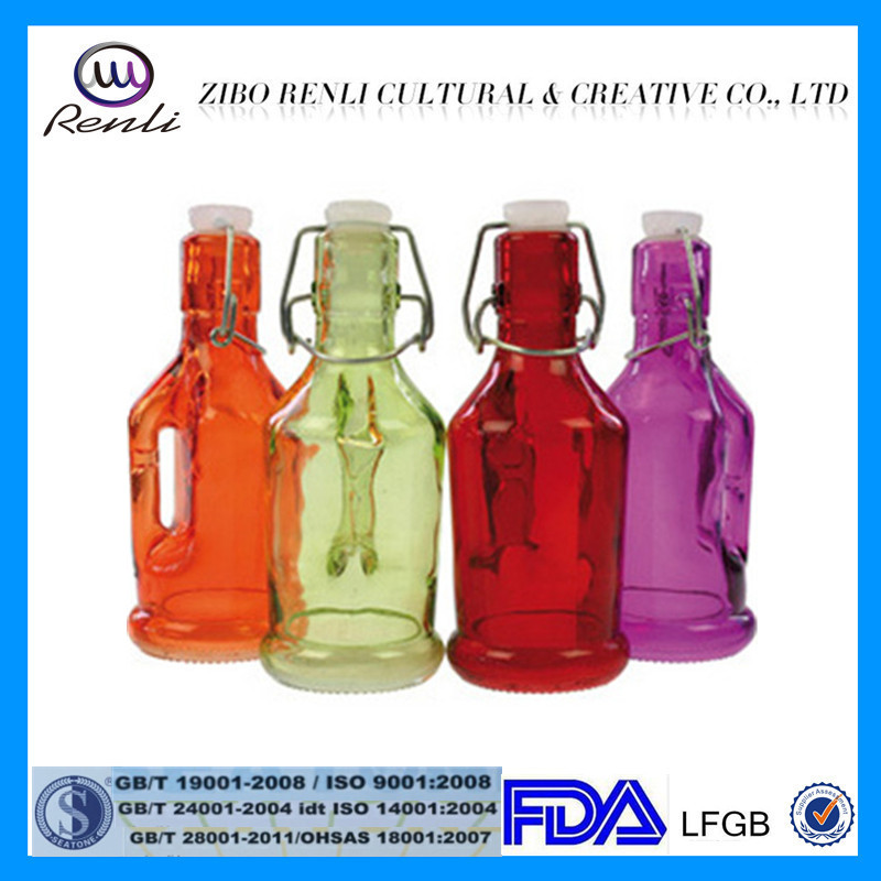 European Cheap 40oz Colored Decorative Glass Fruit Juice Bottle With Fascinating Decorative Glass Bottles With Stoppers