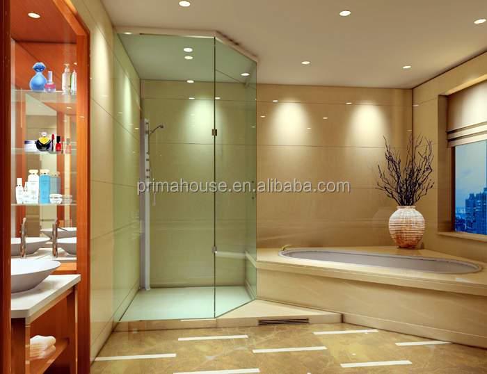 venta templado superior de cristal con bisagras puerta de la ducha habitacin