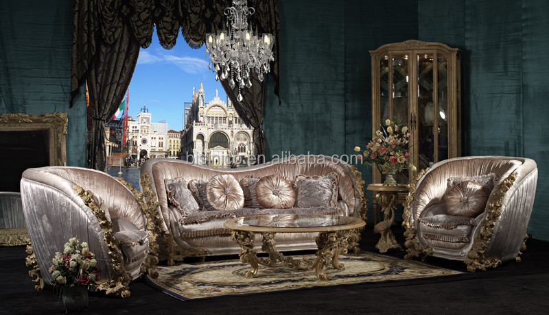 Palace Retro Living Room Sofa Set, Unique Design Solid Wood Hand Carving  Sofa, Luxury Part 95