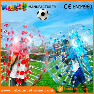Hot half color bubble ball inflatable knock ball calle soccer