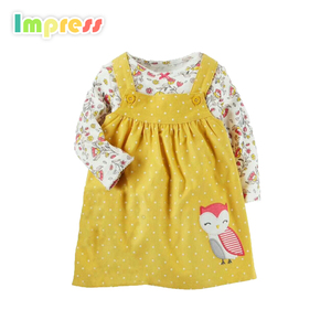 Wholesale Fashionable New Design Cotton Pretty Baby Clothes