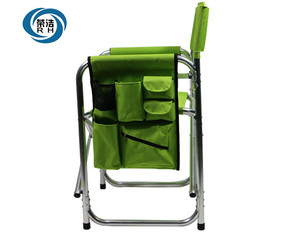 Customized Requirement Tall Aluminum Folding Director Chair With 600D Oxford
