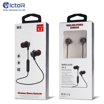 China Factory True Wireless in-ear Earphone Neckband with Mic,Wireless Stereo Earphone Headset