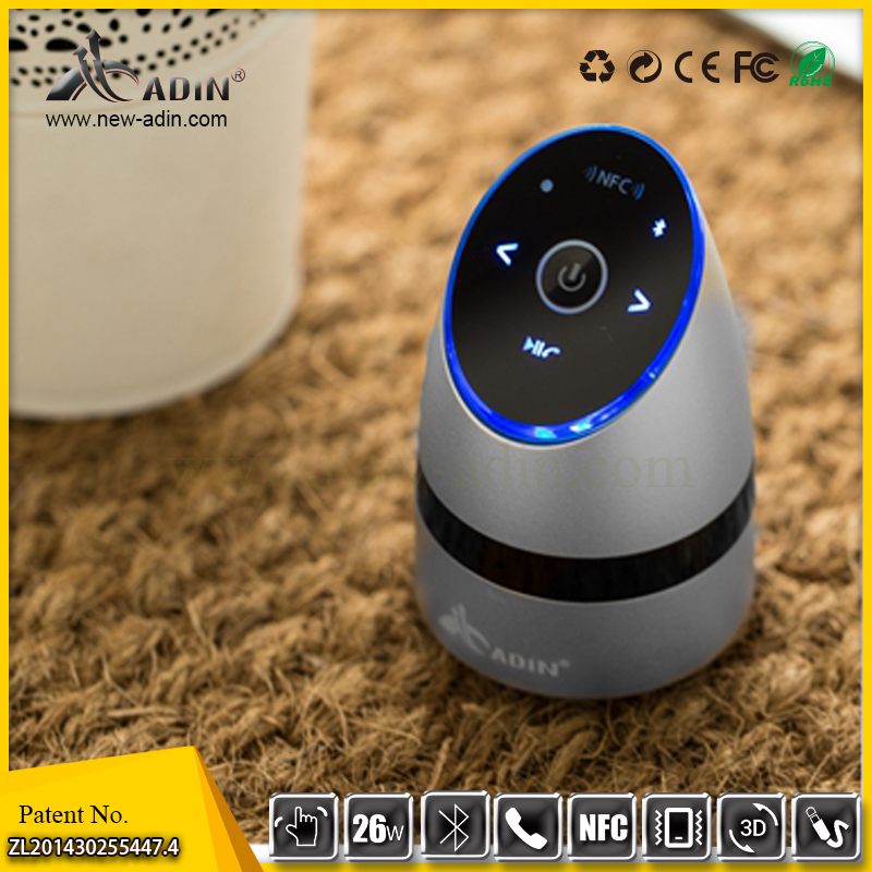 mini portable vibration Speaker with Bluetooth CDR 4.0+EDR and NFC handsfree phonecall