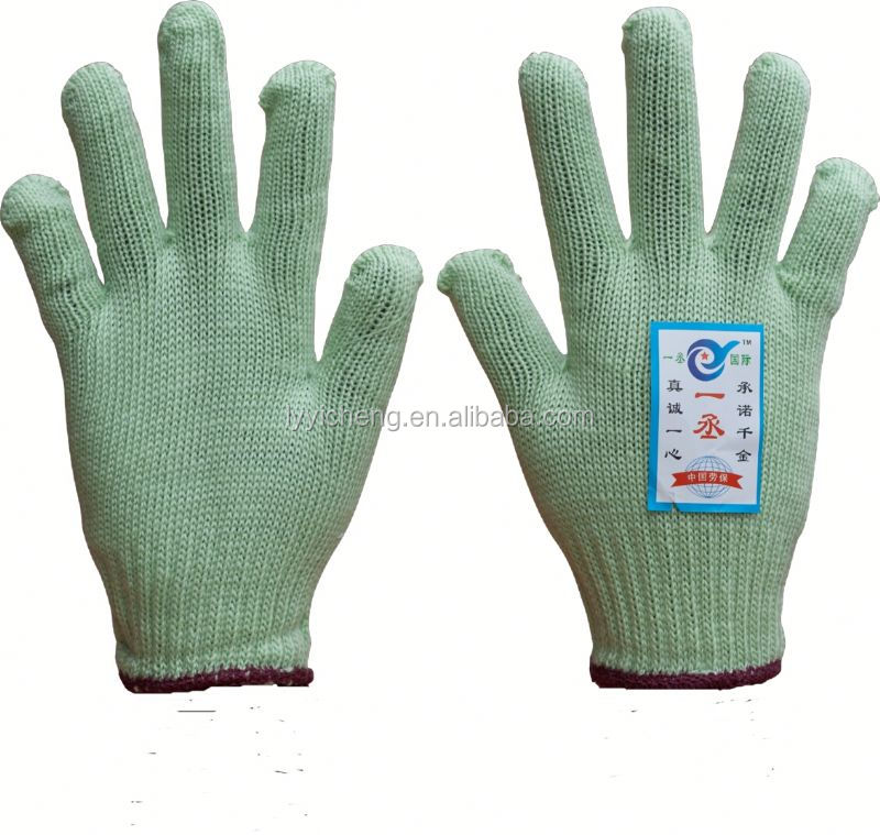 7/10 gauge white knitted cotton gloves manufacturer in china/soft white cotton gloves