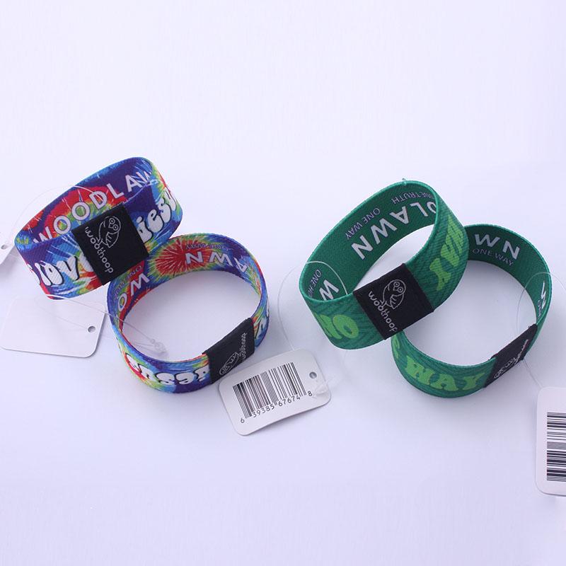 promozionali personalizzati tessuto braccialetti elastici