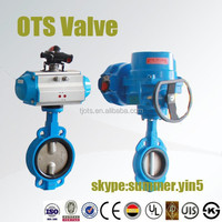 pneumatic and electricity control butterfly valve oil and gas medium PN25