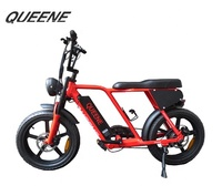 QUEENE/TFT color LCD display 73 lithium battery 48v 500w bafang super power ebike fat tire adult electric bike