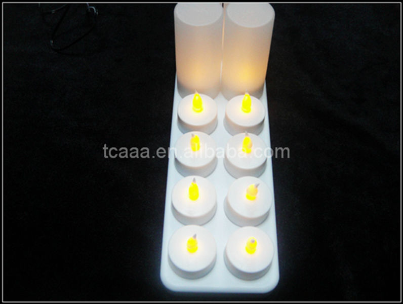 2014 Hot Sale rechargeable led electronic flameless candle