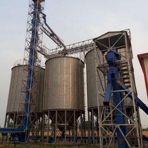 High quality 400ton Hopper bottom steel silo price