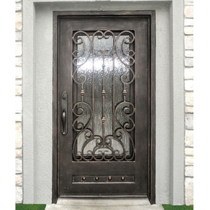 China direct price apartment exterior entry wrought iron single entrance door