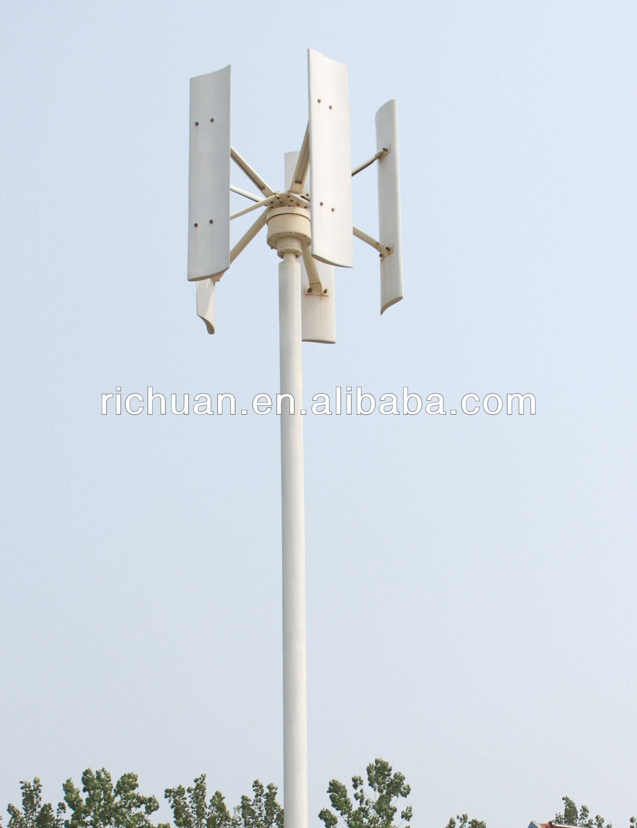 China Vertical Axis Wind Turbine 1kw China Vertical Axis Wind