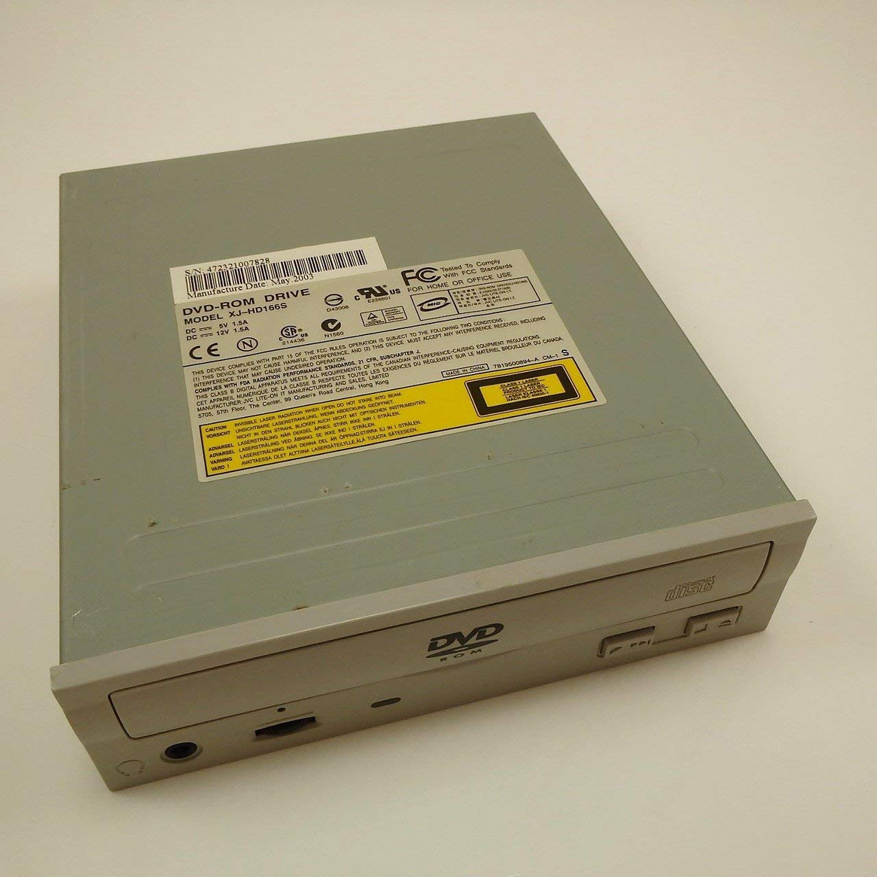 LITE-ON DVD-ROM DRIVE XJ-HD166S, DECEMBER 2003