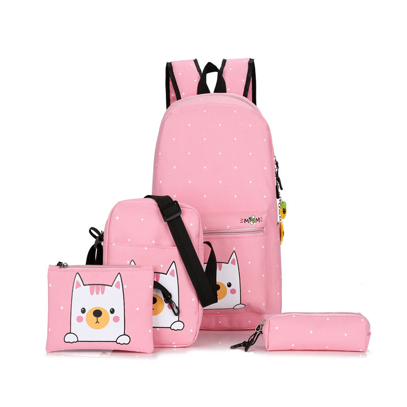China OEM bagpack women canvas printing college student backpack girls book bag wholesale school bags for