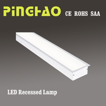 Indoor High End Led Driver Ip40 Linear Recessed Light With Saa Ce Rohs Quality Lamp