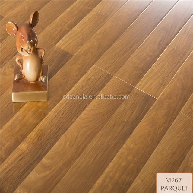 Ac3 Hdf Diamond Living Laminated Flooring / Light Grey Color Oak Engineered  Laminate Wood Flooring