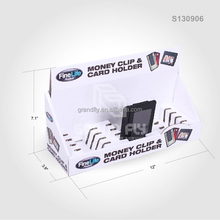 Cardboard Counter Display Box Purse Table displays for Money Clip and Cards Holder