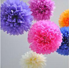 1 шт. 35 см ( 14 дюймов ) ткань бумага пом англичане искусственный цветы для украшение украшение цветы бумага цветы