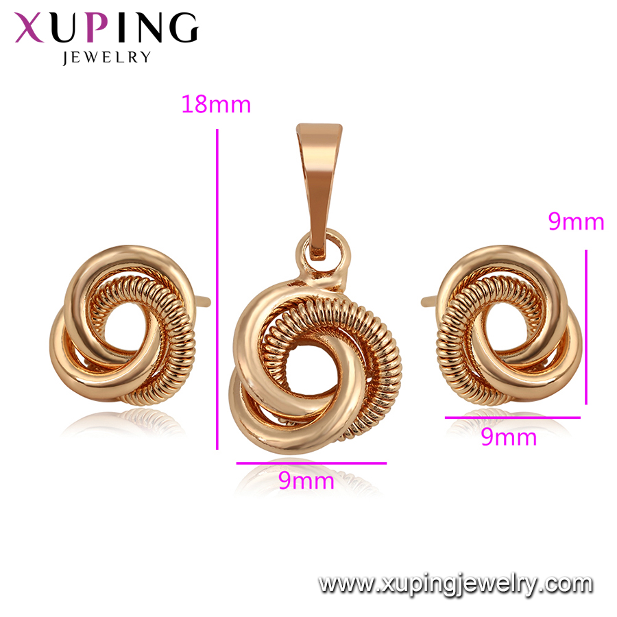 set 023 xuping simple design Kink jewelry set for girls