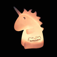 Unicorn Touch Sensor Silicone Nightlight Kids Night Lamp