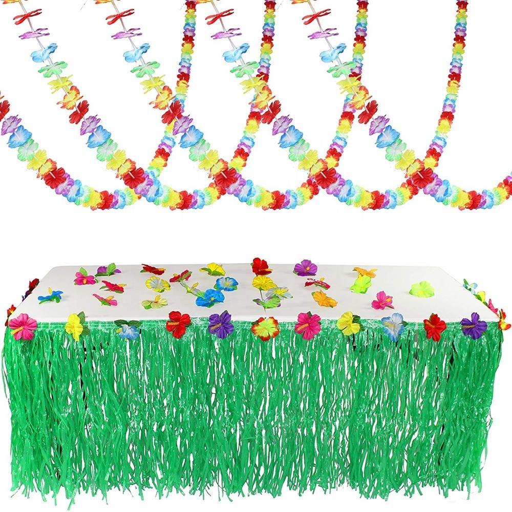 Hibiscus Foil String Decorations Summer Luau Hawaiian Birthday Party Supplies