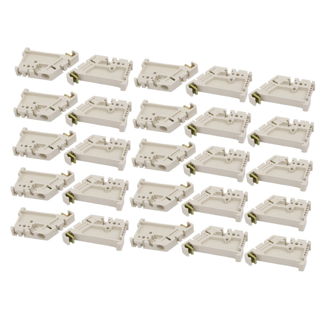 uxcell 25 Pcs White Plastic 35mm DIN Rail Support For Fixing Terminal Board