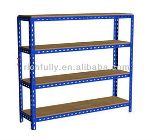 The cheapest Slotted Angle Iron Storage Rack with Particle board, iron shoe rack, Iron Shop Racks