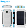 2017 lastest polymer battery rechargeable waterproof 6000mah solar power mobile charger for iphone 7 plus