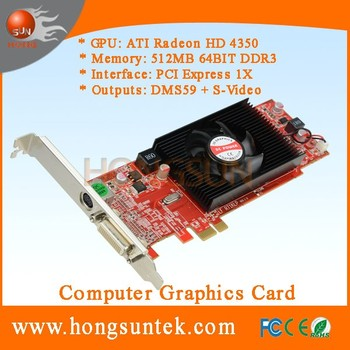Ati Radeon Hd 4350 512mb Pci-express 1x Dms-59 S-video Low Profile Graphics  Video Card - Buy Dms-59,Dms59,Dms59 Video Card Product on Alibaba com