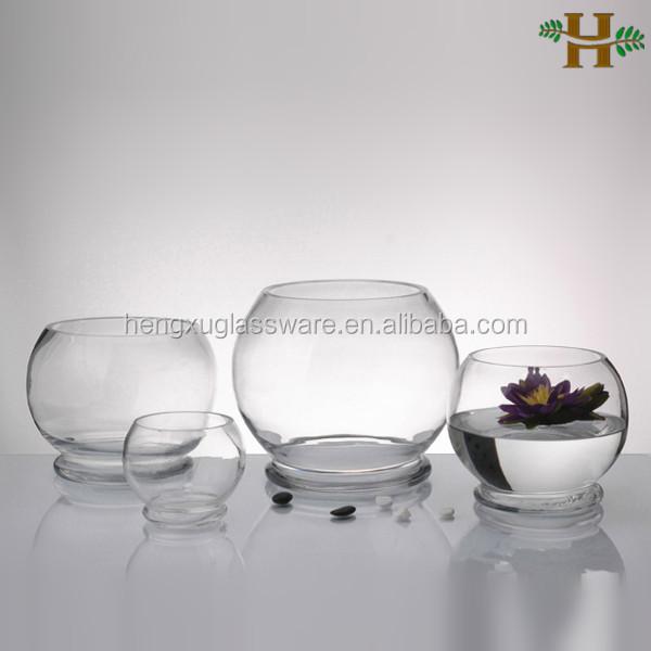 Decorazione da tavolo unico chiaro tondo di vetro boccia for Boccia pesci