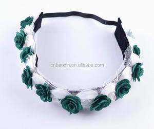 New Funky Two Types Flower Decorative Garland Elastic Floral Headband