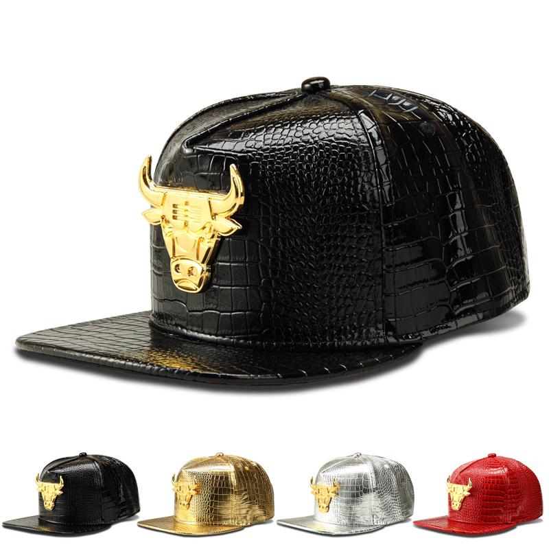 Get Quotations · 2015 Fashion crocodile Baseball Taurus flat-brimmed hat  Snapback Caps Black Hats Luxury Gold hip f881c5cafb28
