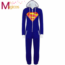 Adults All In One Onesies Pajamas Superman Pijamas Cosplay Party Costume font b Pyjamas b font