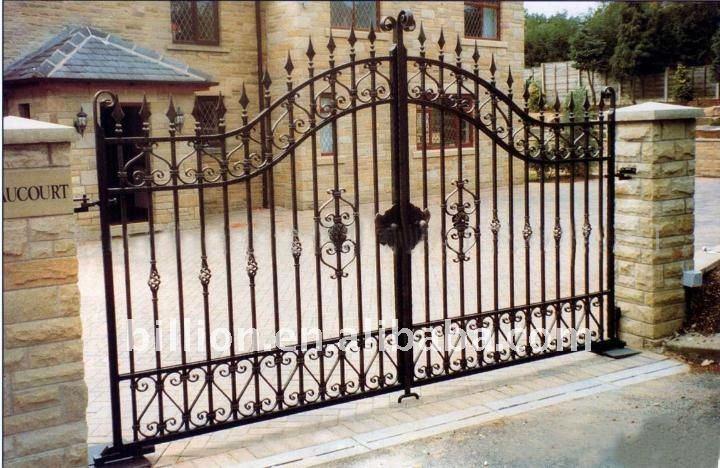 Decorativo utilizado puerta de hierro forjado puertas - Puertas metalicas jardin ...