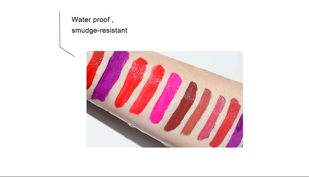 OEM 100 Colors Liquid Lipstick Waterproof Matte Lipgloss Easy To Wear Long Lasting Lips Makeup Sexy Cosmetic
