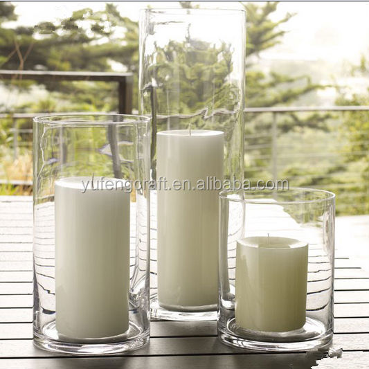 Bougeoirs Cylindre Verre sur pied Mara H 9 cm Verre Clair jodeco 30 CM D