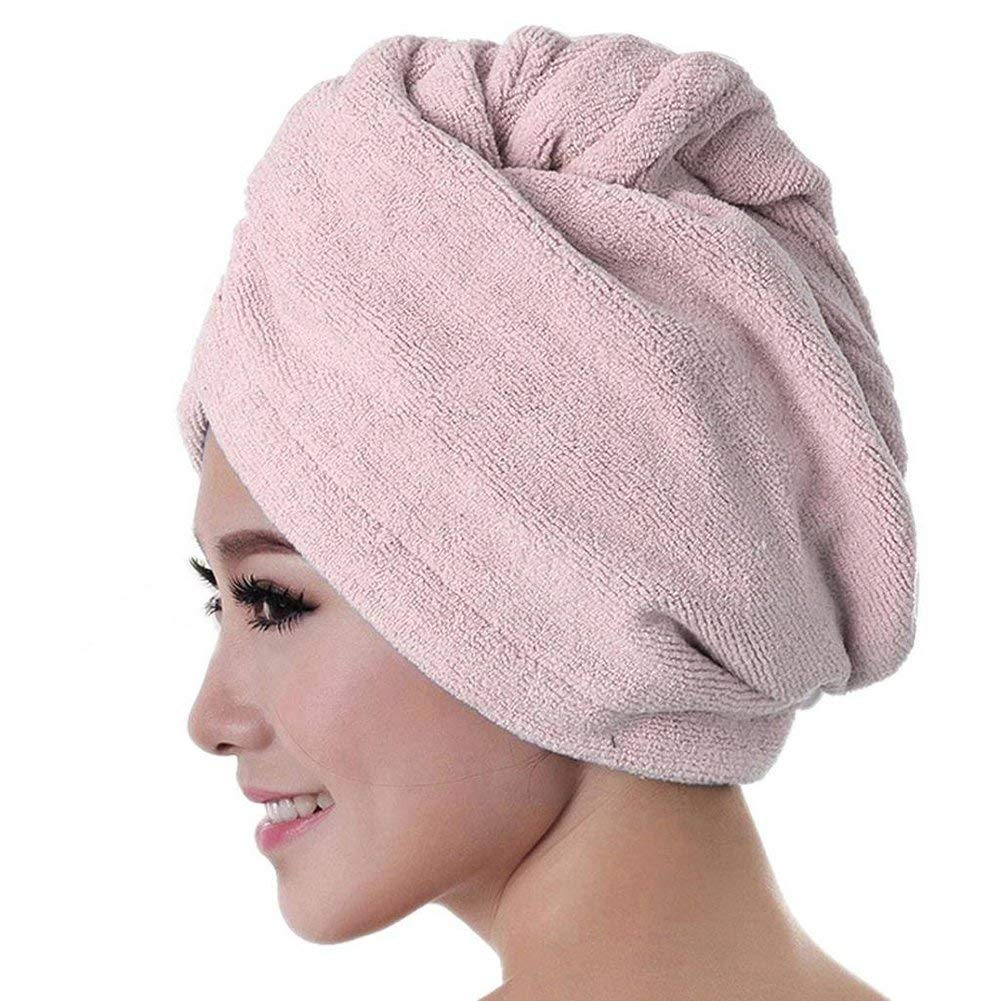 ae989316b5 Get Quotations · Bluelans Microfiber Hair Towel Fast Drying Turban Towel  Absorbent Hair Wrap for Bath, Spa,