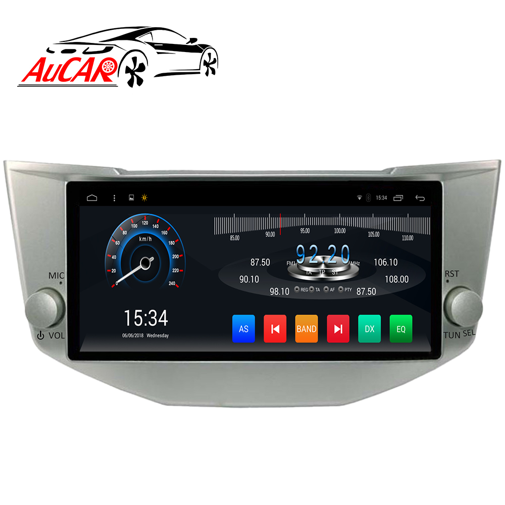 "AuCAR 9 ""Android Autoradio voor Lexus RX300 voor Toyota Harrier 2001-2014 Touch Screen Stereo Video Audio GPS BT 4G IPS WiFi"