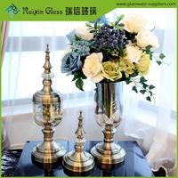 New style tall glass flower vases,glass flower bud vase wholesale