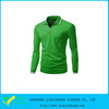 Moisture Wicking Man Long Sleeve Solid Color Pocket Dry Fit Polo Shirt