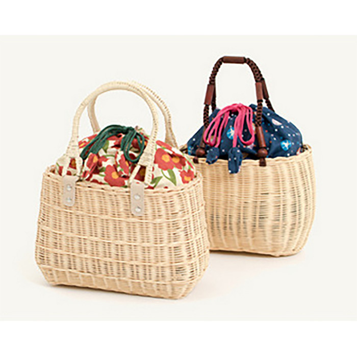 New Simple Knitting Drawstring Straw Bags Summer Single Shoulder Bag Fashion Trend Small Fresh Handbags
