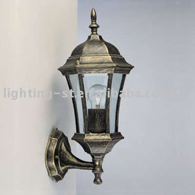 Decoration gold metal glass outdoor wall lamp/light HQ050560