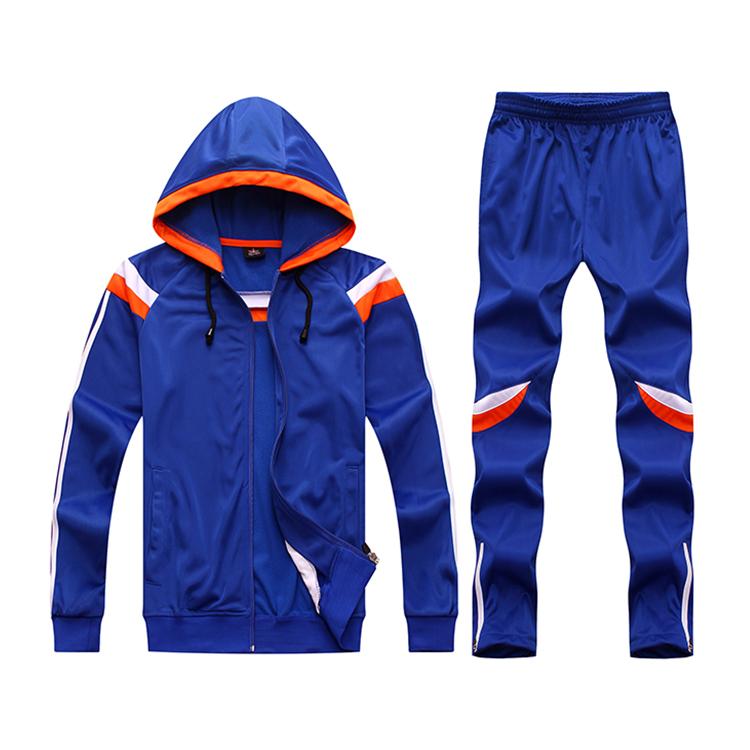OEMผ้าฝ้ายโพลีเอสเตอร์กีฬาTracksuitขายส่งCustom Tracksuitสำหรับบุรุษ