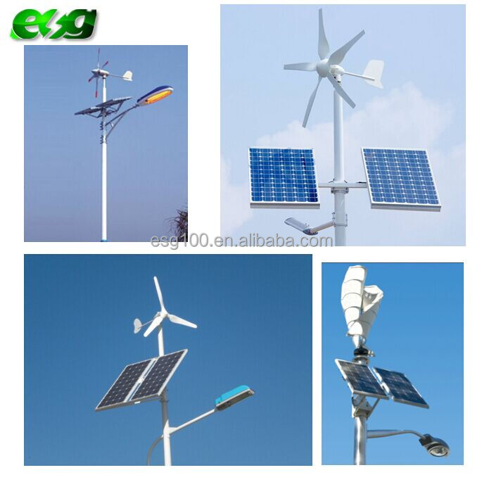 60W led wind solar hybrid street light complete system with 120w solar panel and 400W wind turbine