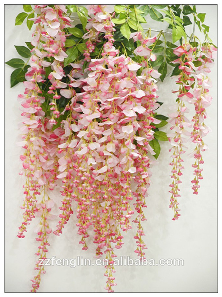 110 cm length hanging silk flowers wholesale wisteria for Artificial flower for decoration