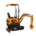 China manufacture 1600kg excavator mini excavator small wheel excavator