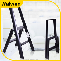 New design safety use aluminum side ladder quick folding narrow step ladder chair