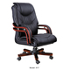 Ergonomic swivel mechanism black antique leather rocking office chairs