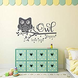 Get Quotations Wall Decal Decor Owl Always Love You Sticker Nursery Vinyl